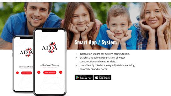 page displays adda smart app